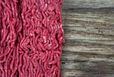 Mince meat and wood background Stock Photography