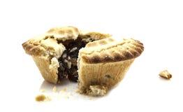 Mince Pie broken in half Royalty Free Stock Photos