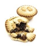 Mince Pie broken in half Royalty Free Stock Image