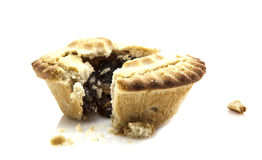 Mince Pie Broken In Half Royalty Free Stock Photos