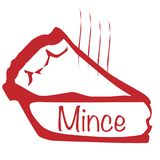 Mince pie chaude illustration stock