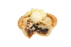 Mince pie with cream Stock Photo