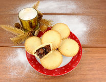 Mince pie dolci di Natale Fotografia Stock Libera da Diritti