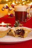 Mince pie e irish coffee Immagine Stock
