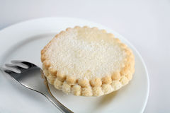 Mince pie with fork Stock Photo