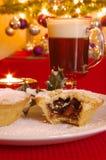 Mince Pie i Irlandzka kawa Obraz Stock