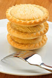 mince pie on a plate Royalty Free Stock Photo