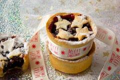Mince pie in ramekins Fotografia Stock Libera da Diritti