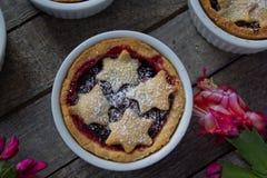 Mince pie in ramekins Fotografie Stock Libere da Diritti