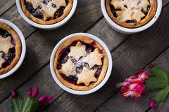 Mince pie in ramekins Royalty Free Stock Images