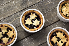 Mince pie in ramekins Royalty Free Stock Image