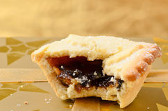 Mince pie, a traditional christmas sweet. Royalty Free Stock Image