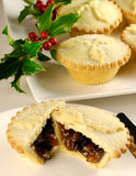 Mince Pies. For Christmas with Holly and Berries stock photo