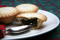 Mince Pies 2. A tasty display of festive Christmas moince pies on a plate stock photos