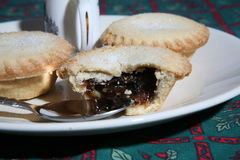 Mince Pies 4. A tasty display of festive Christmas moince pies on a plate stock images