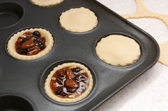 Mince pies being made Stock Photo