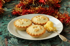 Mince pies, and brandy butter. Stock Photo
