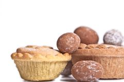 Mince pies and chocolate eggs Stock Image