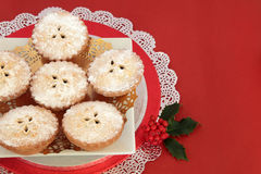 Mince Pies for Christmas Stock Photography