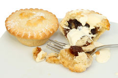 Mince pies closeup Stock Images