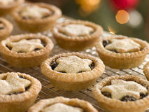 Mince Pies on a Cooling rack stock photos