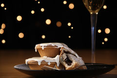 Mince Pies and cream Royalty Free Stock Images