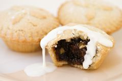 Mince Pies & Cream Royalty Free Stock Photography