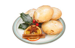 Mince pies with decoration Royalty Free Stock Photography