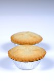 Mince pies in foil cases. Royalty Free Stock Images