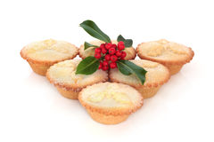 Mince Pies and Holly Royalty Free Stock Image