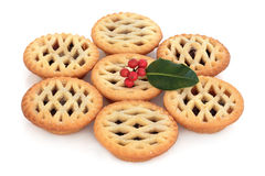 Mince Pies and Holly Royalty Free Stock Photos