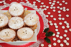Mince Pies with Holly Stock Image
