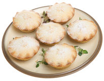 Mince Pies with Icing Sugar Dusting. Christmas mince pies dusted with icing sugar Royalty Free Stock Photo