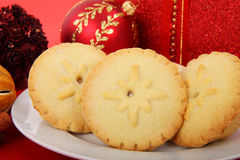 Mince Pies On Plate Royalty Free Stock Images