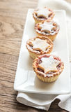 Mince pies on the plate Royalty Free Stock Image