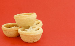 Mince pies on red Stock Photography