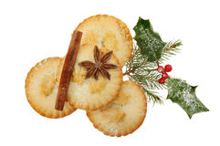 Mince pies and spice Royalty Free Stock Image