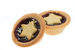 Mince pies with stars Stock Images