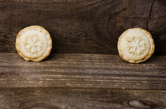 Mince Pies,traditional Christmas food on wooden background with Stock Photography