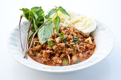 Mince pork  spicy ingredient Stock Photos