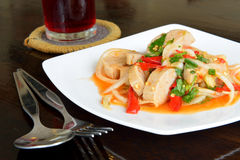 The mince pork spicy salad,Thai food Stock Image