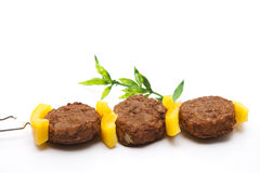 Mince with yellow paprika Stock Photography