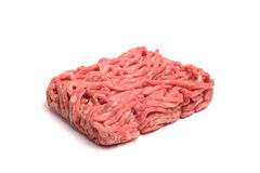 Minced Beaf. Photograph of Raw Minced meat shot in studio against a white background Royalty Free Stock Photo