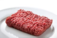 Minced beef. Close up raw ground beef Stock Photos