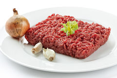 Minced beef. Close up raw ground beef Stock Photo