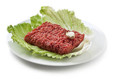 Minced beef. Close up raw ground beef Royalty Free Stock Image