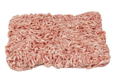 Minced beef meat. Fresh raw minced beef meat isolated over white background Royalty Free Stock Photography