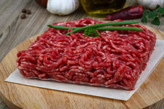 Minced beef meat. Raw Minced beef meat - ready for cooking Royalty Free Stock Photos