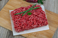 Minced beef meat. Raw Minced beef meat - ready for cooking Stock Photography