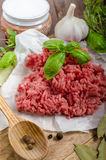 Minced beef raw Royalty Free Stock Images